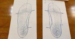 細い足フットプリント